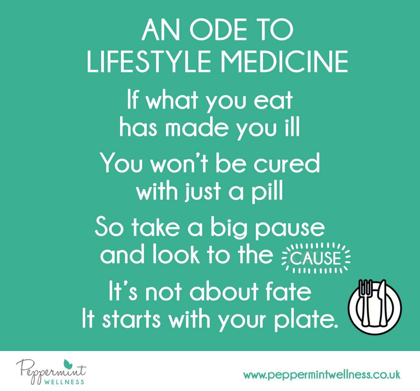 An Ode to Lifestyle Medicine