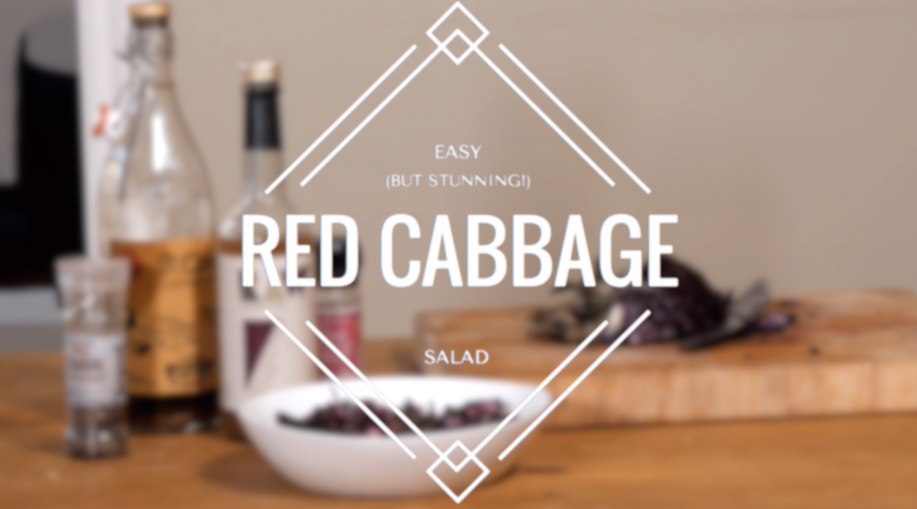 My Super Healthy Red Cabbage Salad